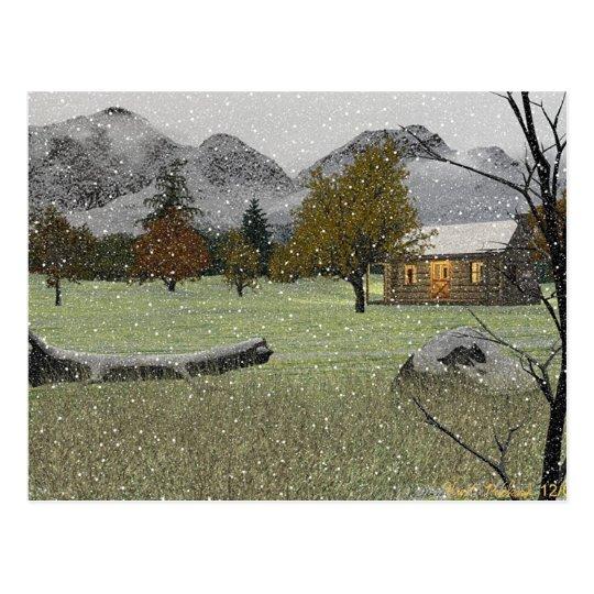 Primera postal de las nevadas