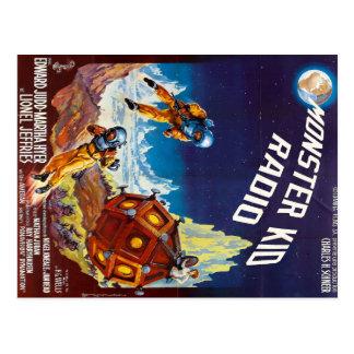 Primera postal del monstruo de la luna de la radio