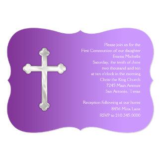 Primera púrpura de la comunión de la invitación