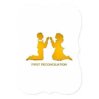 Primera reconciliación invitación 12,7 x 17,8 cm