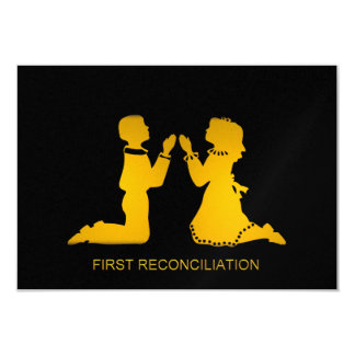 Primera reconciliación invitación 8,9 x 12,7 cm