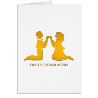 Primera reconciliación tarjeta de felicitación