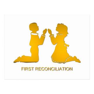 Primera reconciliación postales