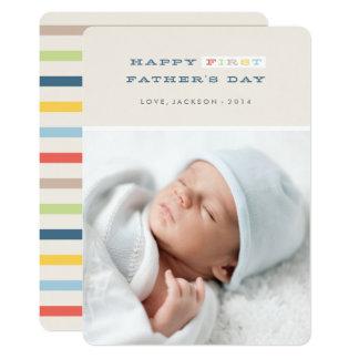 Primera tarjeta colorida del día de padre - marina