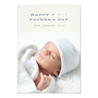 Primera tarjeta colorida del día de padre - marina invitación 12,7 x 17,8 cm