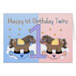 Primera tarjeta de cumpleaños de los gemelos - dos