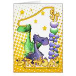Primera tarjeta de cumpleaños de los gemelos - dra