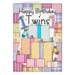 Primera tarjeta de cumpleaños de los gemelos - reg