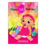 Primera tarjeta de cumpleaños del bebé ético - aña