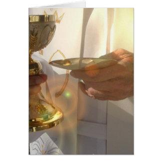 Primera tarjeta de felicitación de la comunión