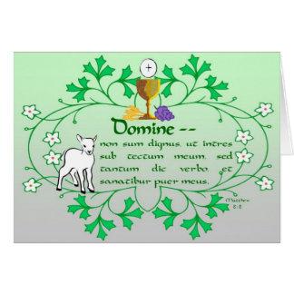 Primera tarjeta de felicitación de la comunión san