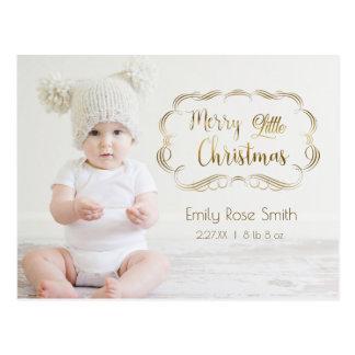 Primera tarjeta de la foto del navidad de la