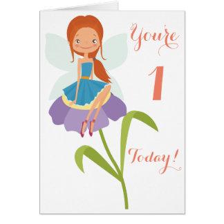 Primera tarjeta de la hada del cumpleaños