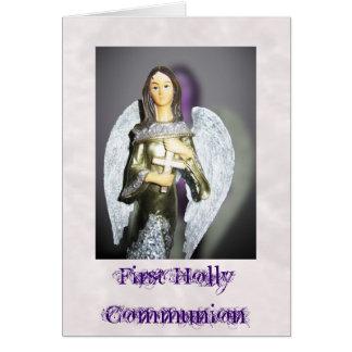 Primera tarjeta de la invitación de la comunión