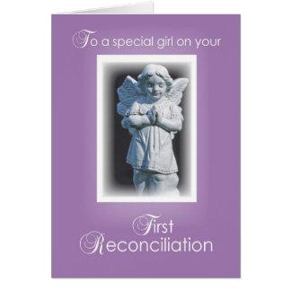 Primera tarjeta de la reconciliación para el chica