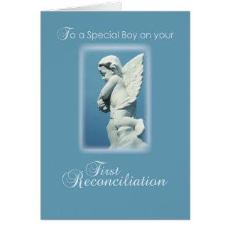 Primera tarjeta de la reconciliación para el mucha