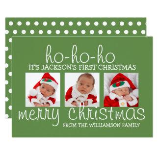 Primera tarjeta de Navidad de la foto del navidad