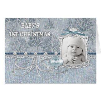 Primera tarjeta de Navidad de los bebés