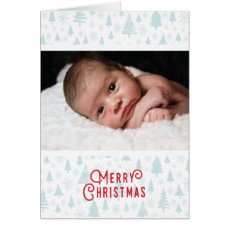 Primera tarjeta de Navidad del bebé con el modelo