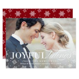 Primera tarjeta de Navidad del recién casado