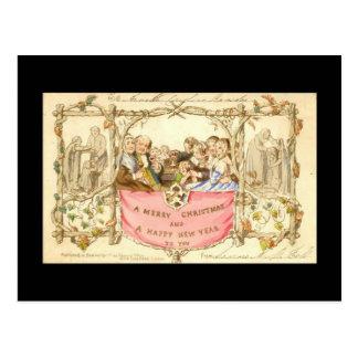 Primera tarjeta de Navidad - Juan C Horsley - 1843