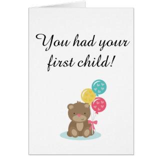Primera tarjeta del niño para el childfree