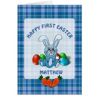Primera tarjeta feliz personalizada del bebé de
