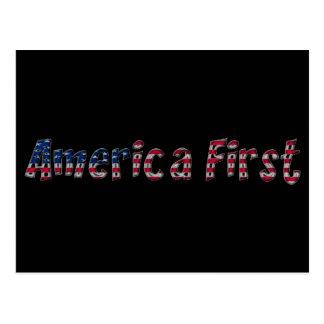 Primera tipografía de la bandera americana de postal