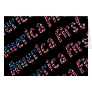 Primera tipografía de la bandera americana de tarjeta de felicitación