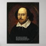 Primeras 4 líneas de soneto # 18 de Shakespeare Poster