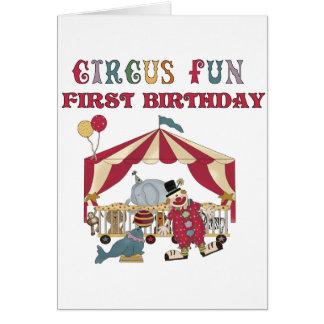 Primeras camisetas y regalos del cumpleaños del tarjeta de felicitación