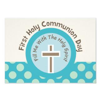 Primeras invitaciones de la comunión santa (chica) invitación 12,7 x 17,8 cm