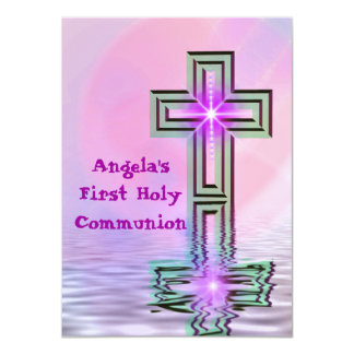Primeras invitaciones de la comunión santa del invitación 11,4 x 15,8 cm
