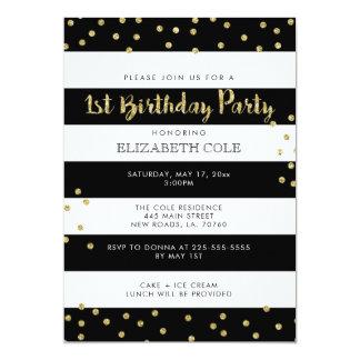 Primeras invitaciones de la fiesta de cumpleaños invitación 12,7 x 17,8 cm
