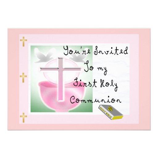Primeras invitaciones del día de la comunión santa comunicados personales