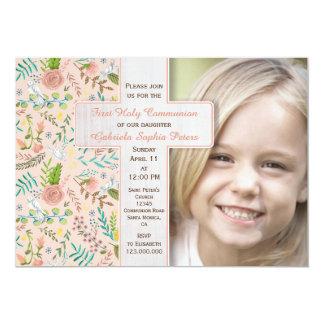 Primeras invitaciones florales de la foto de la invitación 12,7 x 17,8 cm