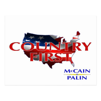 Primeras postales de John McCain Sarah Palin del