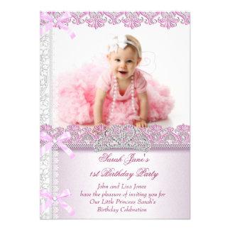 Primero 1ra princesa Pink Photo de las chicas marc Comunicado Personalizado