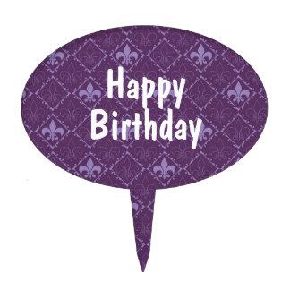 Primero de encargo púrpura de la torta del modelo  figuras de tarta