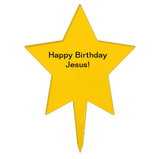 Primero de la torta de Jesús del feliz cumpleaños Figuras De Tarta
