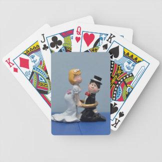 Primero de la torta de novia y del novio baraja de cartas