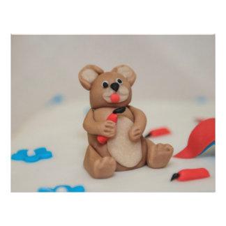 Primero de la torta del oso tarjetas publicitarias