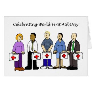 Primeros auxilios DA del mundo Tarjeta De Felicitación