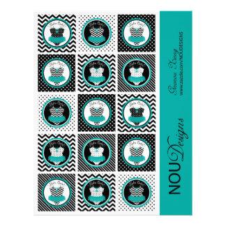 Primeros de la magdalena de la impresión de la tarjetas informativas
