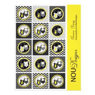 Primeros gemelos de la magdalena de la impresión tarjeta publicitaria