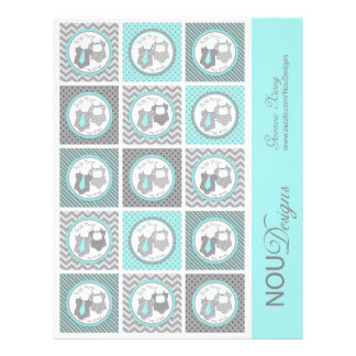 Primeros gemelos de la magdalena de la impresión folleto 21,6 x 28 cm