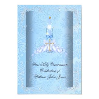 Primeros muchachos azules de la comunión santa del comunicado personal