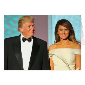 Primeros pares Donald e inauguración del triunfo Tarjeta De Felicitación
