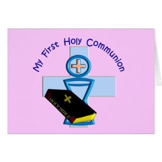 Primeros regalos de la comunión santa para los niñ felicitación