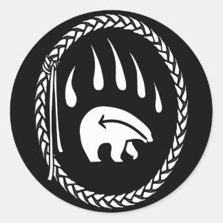 Primeros regalos del oso de las naciones del oso pegatinas redondas